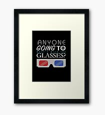Doctor Who 3D Glasses Framed Print