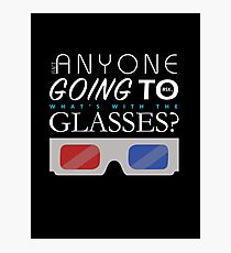 Doctor Who 3D Glasses Photographic Print