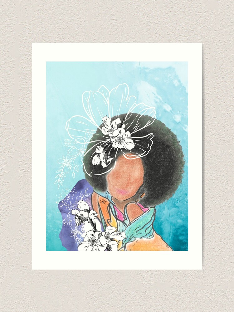 Alternate view of THE Afro  Art Print
