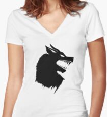 Game of Thrones Direwolf  Women's Fitted V-Neck T-Shirt