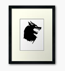 Game of Thrones Direwolf  Framed Print
