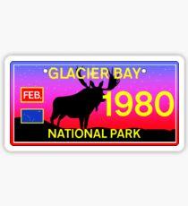 GLACIER BAY NATIONAL PARK ALASKA LICENSE PLATE MOOSE Sticker