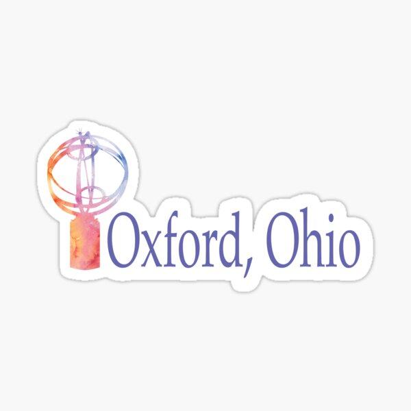Oxford, Ohio Watercolor Blue Sticker