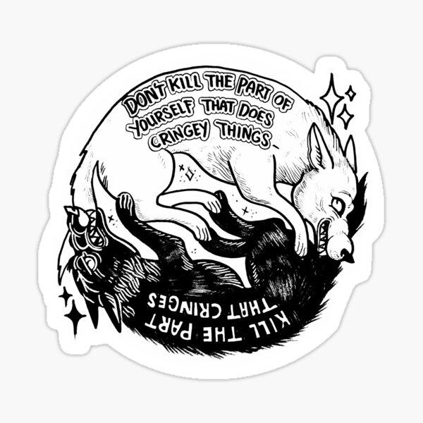 Cringe Wolf Sticker