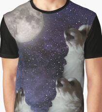 Pupper Howling at Moon Graphic T-Shirt