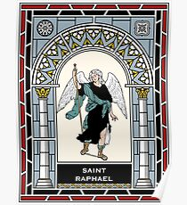 ST RAPHAEL THE ARCHANGEL under STAINED GLASS Poster