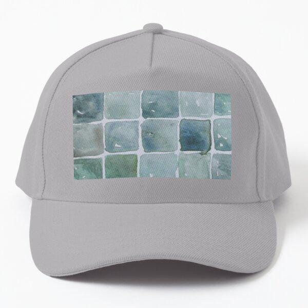 Seafoam Tiles, Watercolor - Green and Blue Palette Baseball Cap