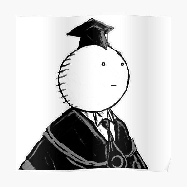 Assassination Classroom - Koro Sensei weisses Gesicht Poster