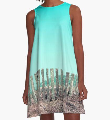 Candy Zäune A-Linien Kleid