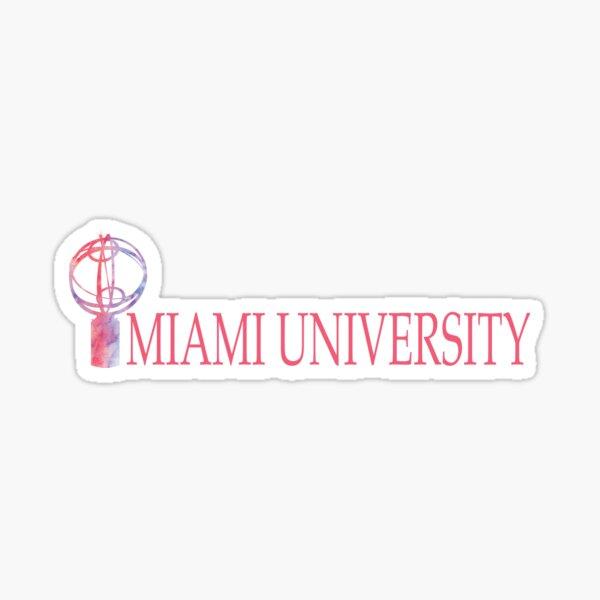 Miami University-Pink Sundial Sticker