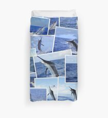 Marlin Photograph Montage Duvet Cover