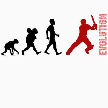 Evolution - Cricket (design 1) by aussietees