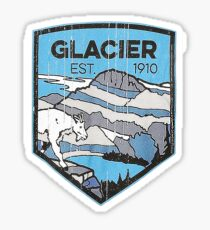 Pegatina Parque Nacional Glacier