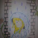 Rainy girl by treavorart