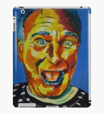 Robbin Williams acrylic on paper iPad-Hülle & Klebefolie