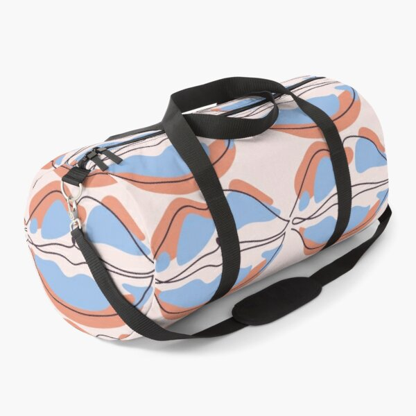 Lip In Abstract Continuous Line Art Duffle Bag