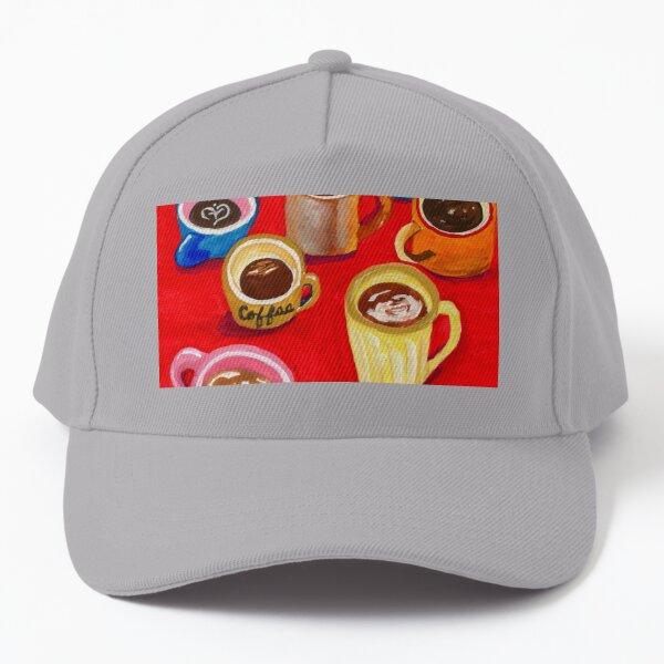 Mugs, Mugs, Mugs - Gouache painting Baseball Cap