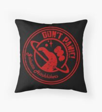 Galactic Hitchhikers Logo Throw Pillow