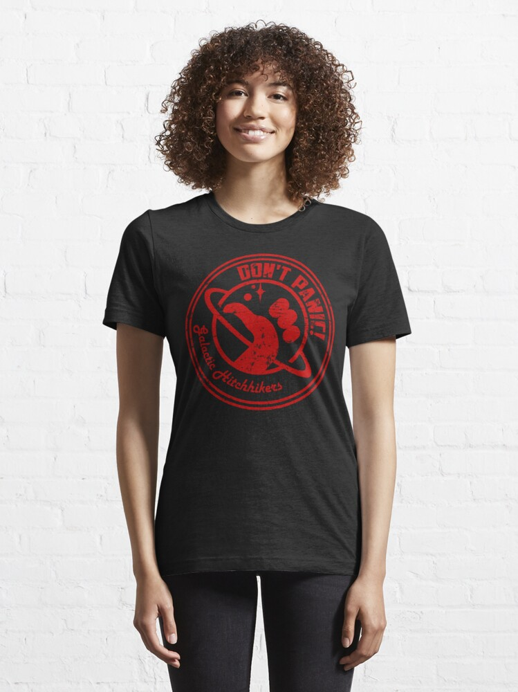 Alternate view of Galactic Hitchhikers Logo Essential T-Shirt