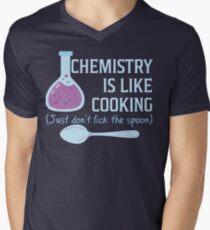Chemistry Is Like Cooking Funny T Shirt Men's V-Neck T-Shirt