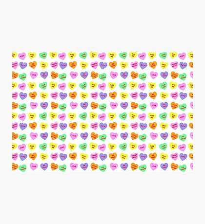 Candy Heart Pattern Photographic Print