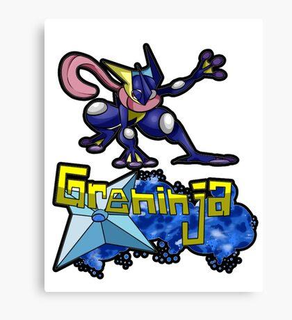 Greninja Pokemon Tee Canvas Print