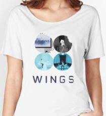 BTS-WINGS-LIES [White] Women's Relaxed Fit T-Shirt
