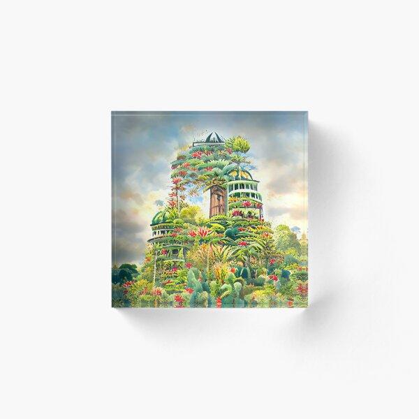 Algoart Tower of Botanic Gardens Acrylic Block