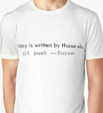 git push --force Graphic T-Shirt