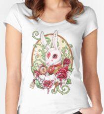 Kaninchenbau Tailliertes Rundhals-Shirt