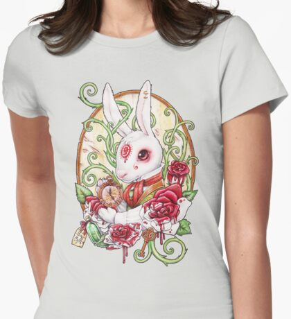 Rabbit Hole Womens Fitted T-Shirt