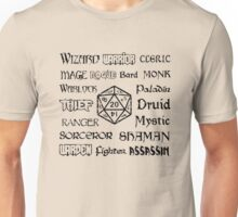 RPG Classes Unisex T-Shirt