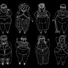 « Superfat Crop Top Fille Gang B & W » par Rachele Cateyes