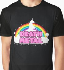 DEATH METAL! (Funny Unicorn / Rainbow Mosh Parody Design) Graphic T-Shirt