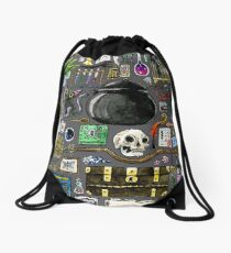 Witch Supplies Watercolor Painting Drawstring Bag