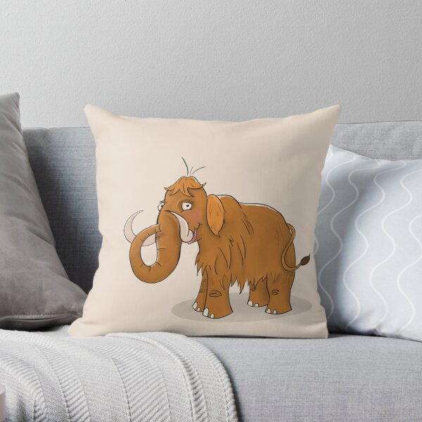 Bristle The Mammoth Throw Pillow