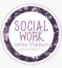 JMU Social Work Sticker