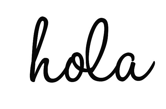 cursive hola stickers by dallasdee redbubble