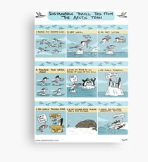 Sustainable Travel Tips from the Arctic Tern Metal Print