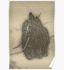 Armoured Elephant Poster