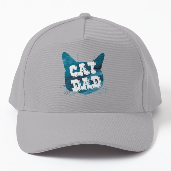 Cat Dad aquarelle bleue Casquette de baseball