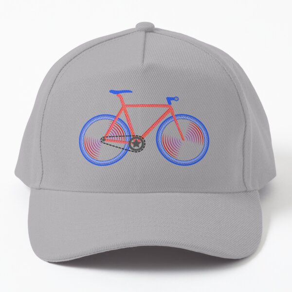 Fixie Red and Blue Baseball Cap