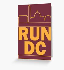Redskins - Run DC - Run DMC Greeting Card
