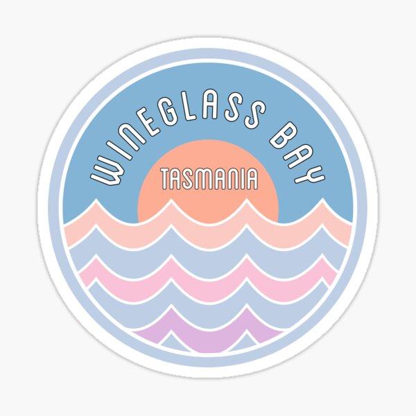Retro Wineglass Bay Beach Sticker