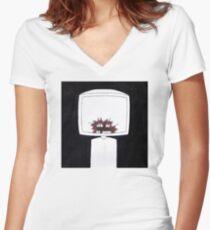 crimson Women's Fitted V-Neck T-Shirt