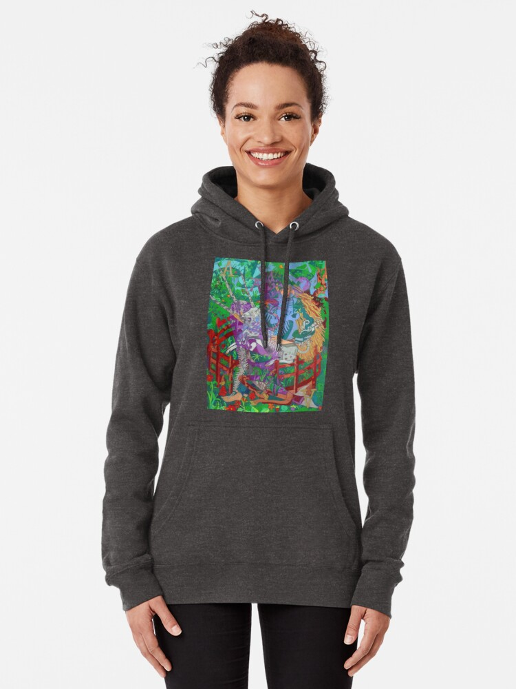 Alternate view of Archeology of the Unicorn Pullover Hoodie