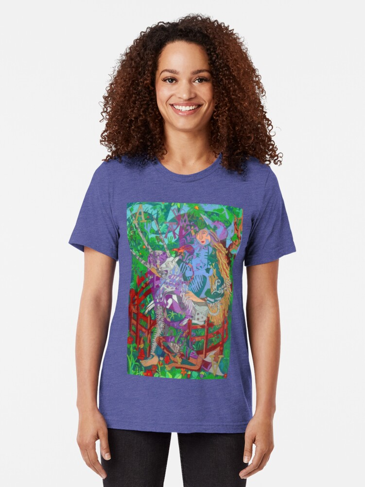 Alternate view of Archeology of the Unicorn Tri-blend T-Shirt