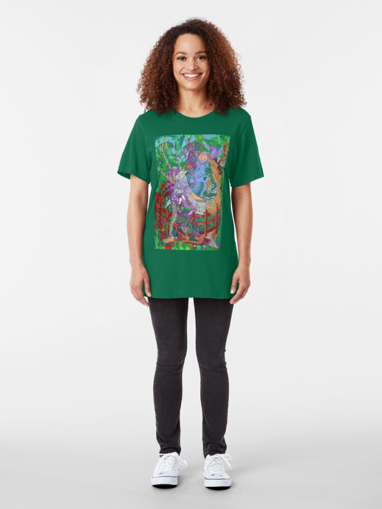 Alternate view of Archeology of the Unicorn Slim Fit T-Shirt