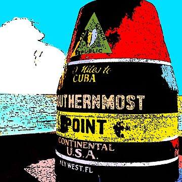 Southernmost Point Buoy by vintagekeywest