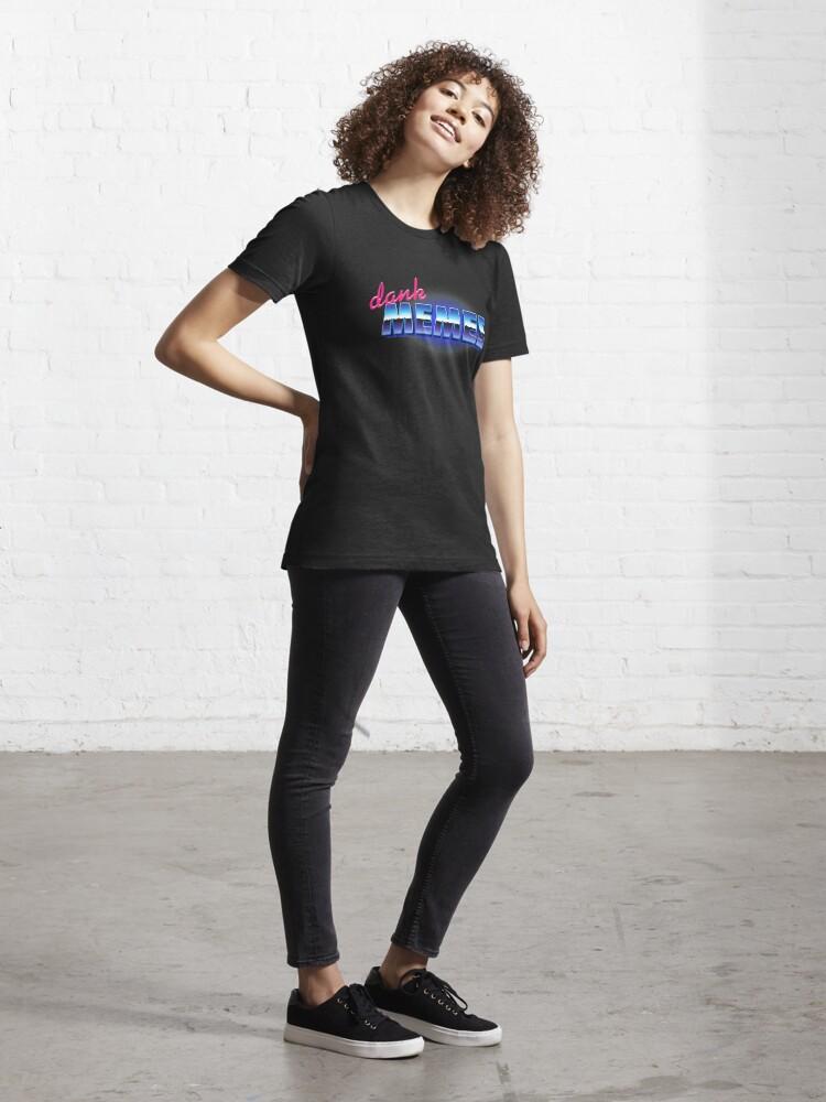 Alternate view of DANK MEMES Essential T-Shirt